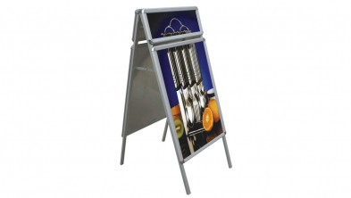 A-BOARD STAND  (with header panel)