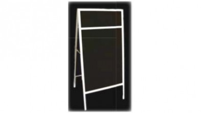 BLACKBOARD  STAND (with header panel)